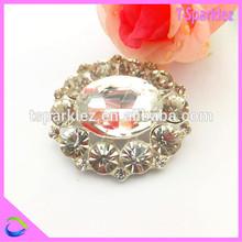latest costume bridal brooch crystal brooch for wedding chair