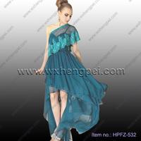 One shoulder elegant lace dresses