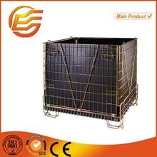 Storage wire cage folding steel warehouse storage wire cage