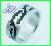 custom design fashion jewelry college ring with black enamel