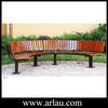 Arlau FW77 patio furniture round metal wooden tree bench