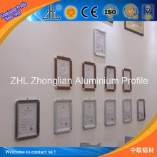 HOT! Aluminium profile, treatment like anodized, electronic, powder coating, wood grain, made in China picture frame/photo frame