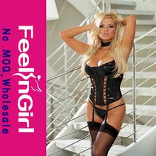 wholesalel hot xxxl com leather corset bondage garter g-strin