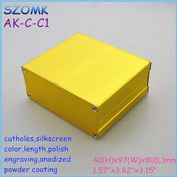 gold color enclosures aluminum extrusions