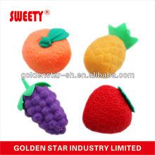 Funny shape hot sale fruit rubber