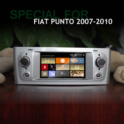 5 inch car dvd player FOR fiat Grand punto linea with gps navigation tv bt blue&me aux ipod