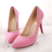 14 new spring suede high-heeled shoes minimalist design pumps thin heels shoes