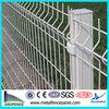 White plastic fence panel