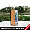 2014 New Cherry Leather Flip Wood Case for iphone 5s,Wood Flip Case for iphone 5