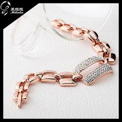 Fashion Trendy Diamond Fack Gold Plated 2014 Jewelry New 18K Gold Bracelet