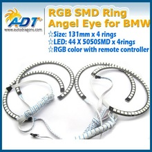 Newest 5050SMD 131mm E46 with projector RGB SMD Ring Angel eye for BMW E46