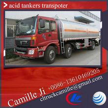 Factory supply Foton 23000 litres liquid nitrogen truck ,hydrochloric acid tank transporter sulfuric acid 98% for sale