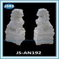 Talladas a mano exterior blanco escultura de león de mármol