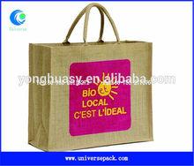 silk printing eco friendly jute shopping bag