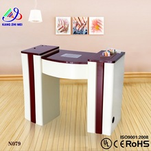 Simple glass top manicure table nail bar wholesale/nail table furniture modern/manicure table nail station KM-N079