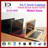 drop ship 14 inch Laptop Computer with Inte N2600 Dual Core 1.6Ghz, 2GB RAM+320GB HDD, DVD-RW, Webcam, 1080P HDMI, WINDOWS 7
