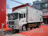 8-12T van body used truck,,DF145 white Van truck with container,cargo van truck
