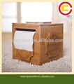 style chinois en bambou boîte de tissu avec un motif