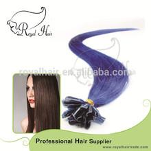 Royal Hair RH-UTS-014 100% Remy silky straight wave Blue nail hair U tip hair