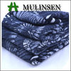 Mulinsen Textile Printed Angora Black and White Knitted Polyester Spandex Fabric