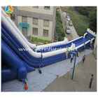 Blue inflatable waterslide, big water slides for sale