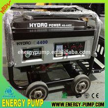 SASO 2KVA 5KVA GASOLINE GENERATOR China BEST low noise gasoline portable generator with big wheels & trolley handle