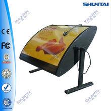 rotating fast food restaurant menu light box