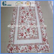 handmade summer quilt/bedsheet on bed