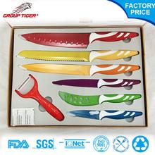 Very beautiful 6 pcs non-stick best kitchen knife set and gift box