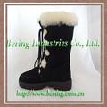 hot venda quente couro inverno botas de neve para as mulheres