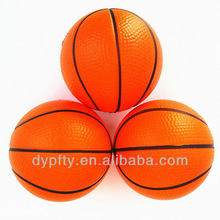 promotional mini soft PU stress basketball with custom logo printed