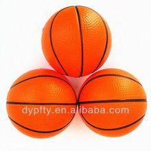promotional mini soft PU stress basketball with custom logo printed