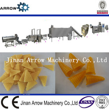 Automatic bugles mixing extruding, frying,flavoring machine