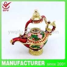 2014 New fashion and hot sale products Aladdin Lamp gfit box item metal decoration(QF3276)
