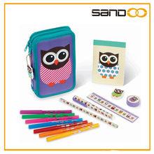 2014 New design cute woodland owl pencil case, beauty bag