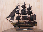 50cm PINE Wooden Table Decorative Sailboat Model(Black Pearl)