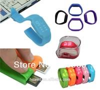 Customized Logo Silicon Wristband LED USB Watch