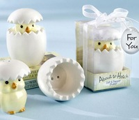 Lovely About to Hatch chick Ceramic Salt Pepper Shakers For Pary return supplies Baby shower gifts