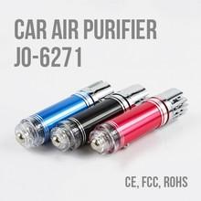 LED Car Auto Oxygen Bar Freshener Smoke Air Purifier ionizer Vehicle JO-6271