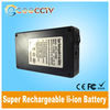 12v rechargeable lithium battery 3800mah in black case for CCTV and led