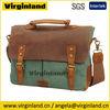 2013 New Model Vintage Washed Blue Canvas Ladies Shoulder Bags Genuine Leather Lady Handbag With Handle and Shoulder Strap