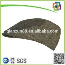 Custom Mens Golf Sun Hats Tweed Flat Bill Hat Wholesale Golf Hats