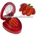 plástico de morango slicer cortador com lâminas de aço inoxidável