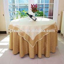 Beautiful Hotel light yellow wedding table cloth Wholesale