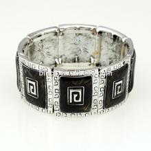Fashion Elastic Anti silver Enamel bangles S16