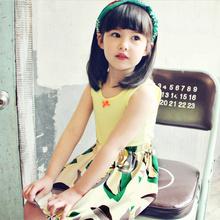 2014 new cotton vest Western style flower princess dress stitching