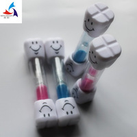 Teeth design color hourglass/Happy Molar sand timer /Molar smile sand timer