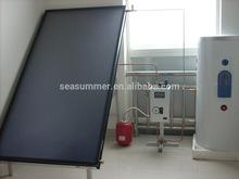 Flat roof Vacuum Solar panel collector Solar water heating panel price 200liter,260liters