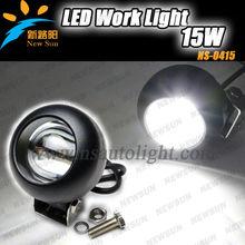 Round 15W LED Work Light Super Bright LED Driving Light SUV ATV Tractor 4X4 4WD LED Flood Light Fog HeadLight with cheap price