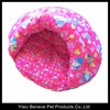 cotton colorful igloo dog bed